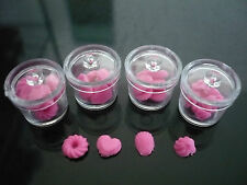 4 Pink Cookie of Canister Plastic Remove Lid Dollhouse Miniatures Food