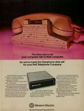 1974 Western Electric Dataphone Pink Phone 4800 Modem Data Set Vintage Print Ad