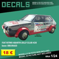 DECALS repro Fiat Ritmo Abarth Jolly Club Bburago Burago 1/24 1 24 decal rally