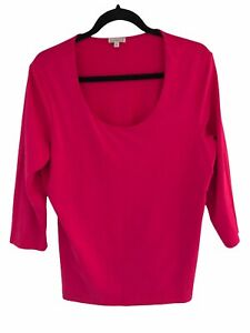 Kettlewell Size LL Pink Round Neck Top