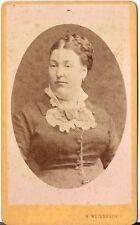H. Weissbach CDV photo Damenportrait - Wien 1870er
