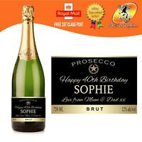 PERSONALISED PROSECCO BOTTLE LABEL BIRTHDAY ALL OCCASIONS GIFT