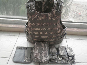 ACU Combat Tactical Soft Bullet proof vest IIIA NIJ0101.06 Size:M