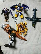 Transformers  Lot 5 figures beast wars action figures.