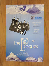Pogues Luka Bloom Fillmore 1988 concert poster