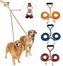 No Tangle Double Multiple Dual Coupler 2Way Nylon Dog Pet Walking Leash Lead