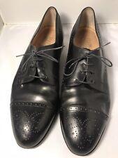 Salvatore Ferragamo Men's Black Leather Dress Shoes Sz. 12D Pre-Owned Condition!
