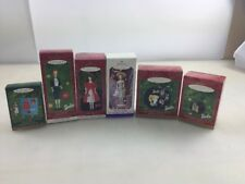 Hallmark Ornaments Lot of 6  1960 Barbie Collector's Edition  NEW Originals