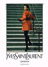 PUBLICITE ADVERTISING 045  1992  YVES SAINT LAURENT  haute couture INES DE LA F