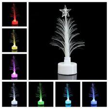 Colorful Fiber Optic Nightlight Mini Christmas LED Tree Decoration Light Lamp UK