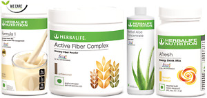 HERBALIFE KIT - F1 Shake, Fiber Complex + Aloe Concentrate + Afresh Tea