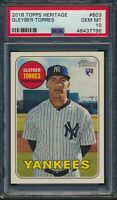 2018 Topps Heritage High #603 Gleyber Torres New York Yankees RC PSA 10 Gem Mint