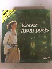 VINTAGE Kotex Maxi Pads 12 Pads. Super Beltless  Protection