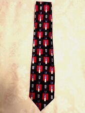 Holidays Christmas Toy Soldier Drum Red Blue Green Musical Silk Tie