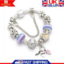 New Womens Jewellery Gift Rainbow Unicorn Silver Charm Bracelet With 9 Charms UK