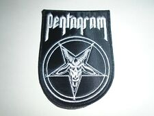 PENTAGRAM DOOM METAL EMBROIDERED PATCH