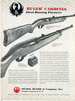 1998 Ruger Carbine Semi Automatic Rifle Dealer Sheet Page With Specifications