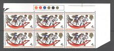 GB 1968 Christmas 4d, t/l strip with phosphor omitted, MNH SG 775Ey