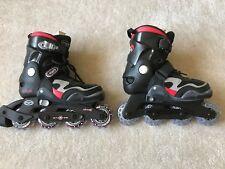 Boys Girls Rollerblade Ozo 500 Abec 3 Inline Skates Adjustable Sizes Us 3-6