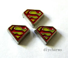 10pcs Super Hero Floating Charms Fit Living Memory Locket Free Shipping FC288