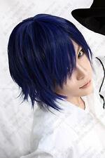 VOCALOID Kaito diva Short Blue Black Wigs Cosplay Hair Wig