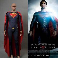 Superman Man of Steel Costume Cosplay New Version *Custom Made*