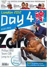 OLYMPIC GAMES DAY 4 FOUR DAILY PROGRAMME LONDON 2012