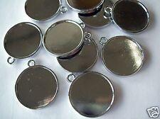 """7/8"""" Bezel Cup Jewelry Blanks - Double sided Pendants"""