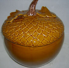 Williams Sonoma Thanksgiving Brown Oak Acorn Large Soup Tureen New