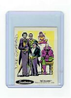 Sunbeam Bread DC Super Heroes Sticker Card #29 Dick Giordano Signed Villains