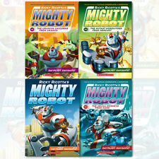 Ricky Ricotta's Mighty Robot Collection 4 Books Set By Dav Pilkey Paperback, NEW