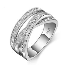 GENUINE SILVER 925 ENTWINING ENTWINED RUSSIAN WEDDING RING SIZE 58 SALE LTD QTY