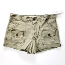 Abercrombie & Fitch High Rise Shorts Womens 10 w30 Cargo Cuffed Green - NEW NWT