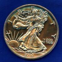 2000 1/2 Pound Troy 6 oz .999 Fine Silver Walking Liberty Low Mintage