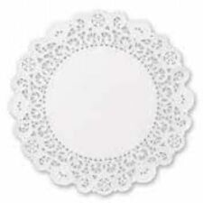 """9"""" White Round Brooklace® Lace Doily Doilies 500 ct paper bakery deli"""