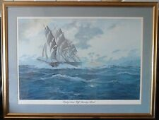 Large Framed Print 'Cutty Sark off Beachy Head' by John Steven Dews 1979 Amoco