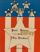 Paul Revere Raiders '65 Program AUTOGRAPHED to YOU by Mark Lindsay