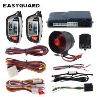 EASYGUARD 2way car alarm security system remote start timer engine start DC 12V