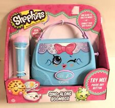 Shopkins Sing Along Boombox Microphone Connect MP3 Toy Handbag Purse Harriet New