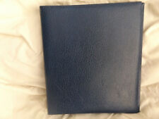 USED BLUE 22 RING COLLECTA ALBUM WITH NO PAGES EMPTY