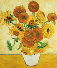 "Vase with Fifteen Sunflowers - Van Gogh Oil Painting Handmade Art 20x24"" VG-11"