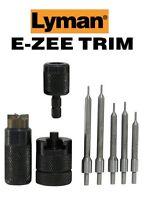 Lyman  E-ZEE TRIM Hand Case Trimmer RFL SET Includes 5 Pilots  7821891 New!