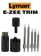 Lyman * E-ZEE TRIM Hand Case Trimmer RFL SET Includes 5 Pilots * 7821891 New!