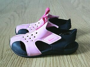 Nike Sunray Protect 2 TD Girl's Water Sandals Pink Size Infants 8.5 / 26