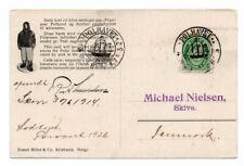 NORWAY/POLAR: Postcard to Denmark from Fram, Amundsen, Polhavet 1914, scarce(B8)