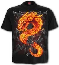 Spiral Fire Dragon T-shirt Black L