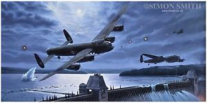 Dambuster Leader Lancaster aviation print or card, limited edition signed