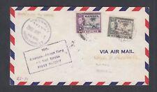 Gambia 1942 First Flight Mu #12 Cover Bathurst To Natal Brazil
