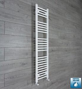 350mm Wide 1400mm High Straight White Heated Towel Rail Radiator Bathroom Rad