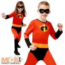 Incredibles Kids Fancy Dress Superhero Boys Girls Disney Child Halloween Costume